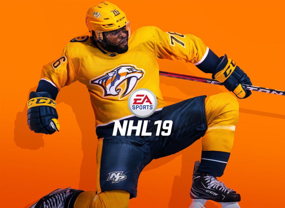 PK Subban sur la jaquette de NHL19