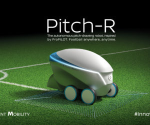Pitch-R, le robot signé Nissan capable de tracer un terrain de football
