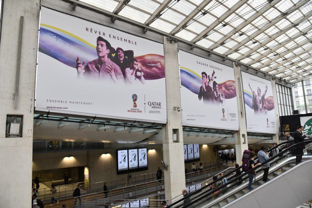 Pub Qatar Airways Aéroport CDG