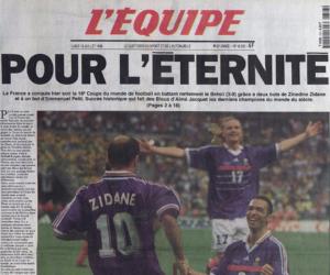 Top 10 des meilleures ventes du journal L'Equipe : un seul «intrus» au milieu de l'Equipe de France