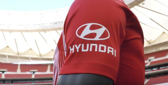 Hyundai nouveau sponsor sur la manche de l'Atlético de Madrid
