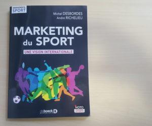 Concours – Nous vous offrons 3 exemplaires du livre «Marketing du Sport – Une vision internationale»
