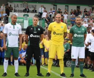 le coq sportif dévoile les nouveaux maillots 2018-2019 de l'ASSE désormais floqués Aesio