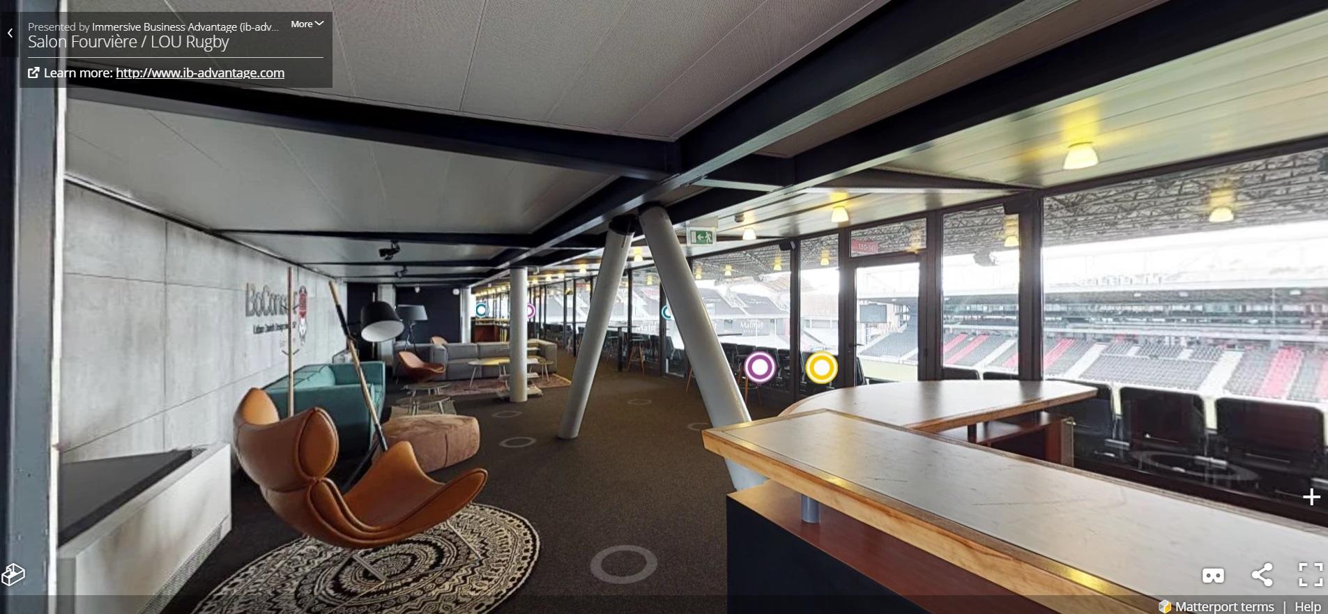 Fan experience le lou rugby lance une visite virtuelle for Matmut salon