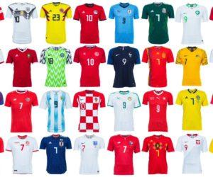 Football – Tous les maillots de la Coupe du Monde de la FIFA Russie 2018 (8 équipementiers)