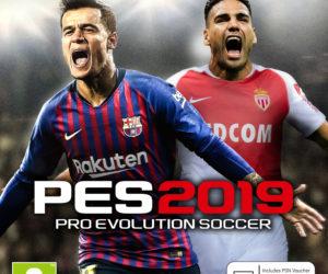 L'AS Monaco et Radamel Falcao sur la jaquette de PES 2019