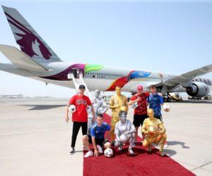 Qatar Airways célèbre la finale de la Coupe du Monde 2018 France – Croatie avec un avion aux couleurs de la FIFA