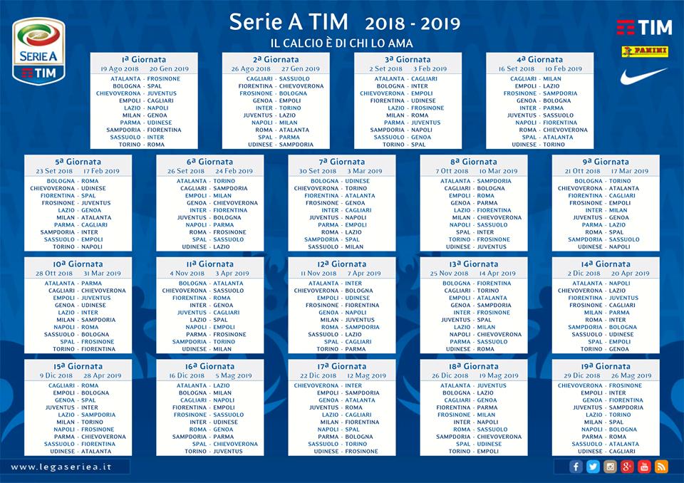 Calendrier Serie A 2021 TIM reste le sponsor titre de la Série A jusqu'au moins 2021