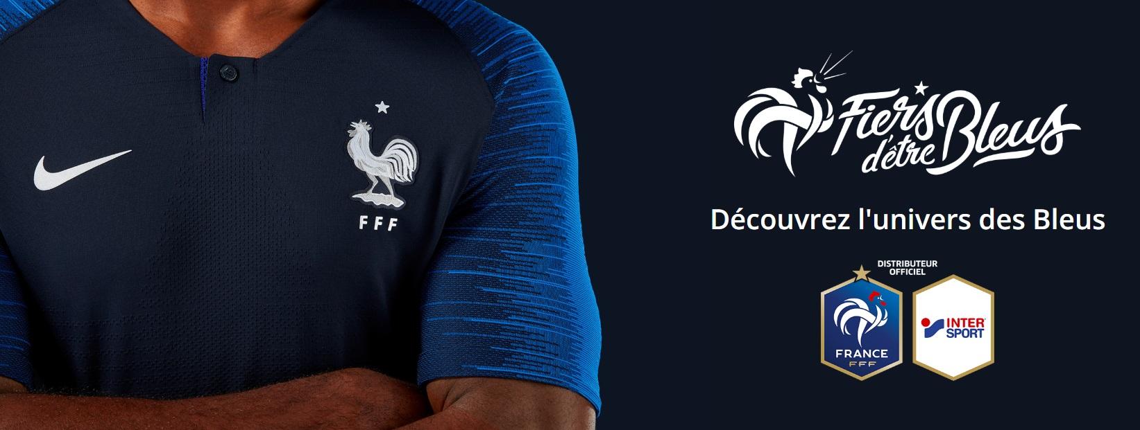 0ae2aba111 A date, 95 000 maillots de l'Equipe de France se sont vendus dans nos  magasins depuis le début de la compétition »
