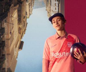 Nike mise sur le rose et une bande diagonale pour le maillot Third 2018-2019 du FC Barcelone