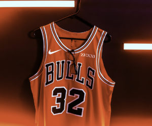 NBA – Zenni Optical sponsor maillot des Chicago Bulls