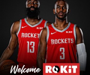 NBA – Rokit sponsor maillot des Houston Rockets