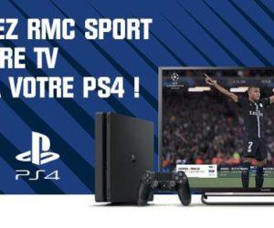 TV – RMC Sport désormais accessible sur PlayStation 4