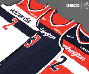 NBA –  Geico sponsor maillot des Washington Wizards