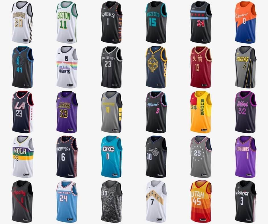 8223022aaa40e Pour cette seconde saison sous contrat avec la NBA, Nike propose de nouveau  les maillots « City Edition ». Toutes les franchises (30) sont représentées  et ...