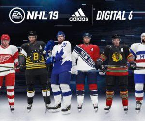 NHL 19 – adidas lance des maillots «digitaux» pour les 6 franchises les plus anciennes