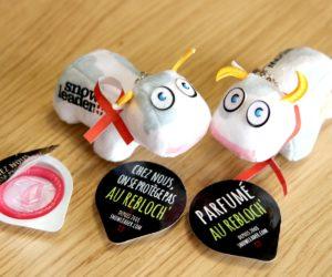 Snowleader offre des préservatifs au reblochon pour la journée mondiale de lutte contre lesida
