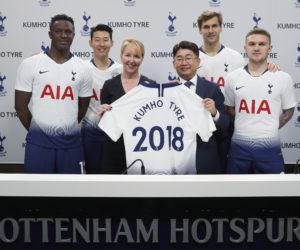 Sponsoring – Kumho Tyre sponsor de Tottenham jusqu'en 2021
