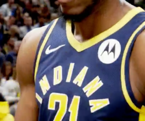 NBA – Motorola sponsor maillot des Indiana Pacers