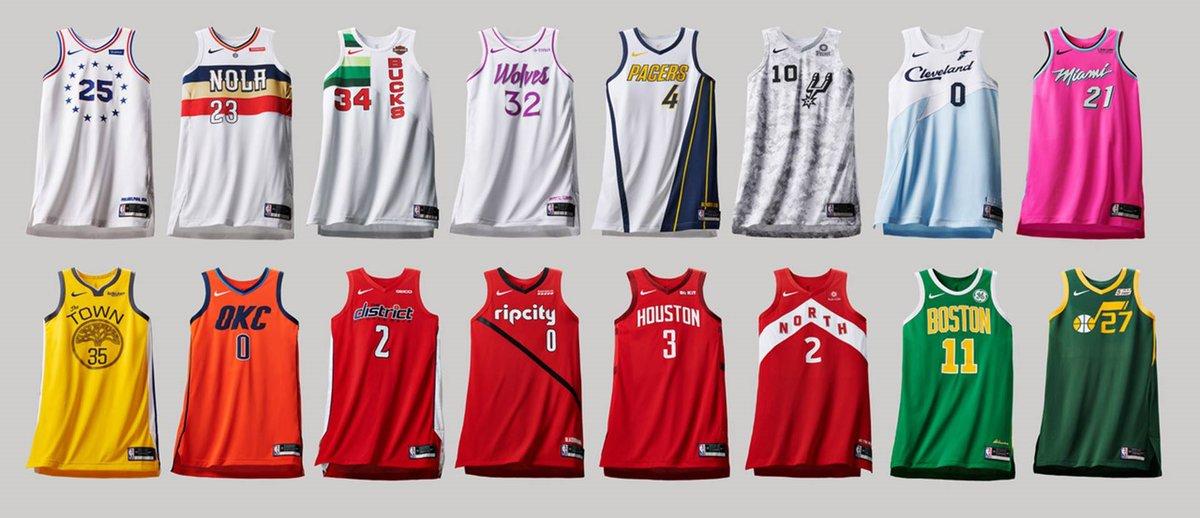 4811b2b182908 Nike et la NBA en font-ils trop ? Après la collection de jerseys « City  Edition » présentée il y a quelques semaines, la marque au swoosh sort 16  nouveaux ...