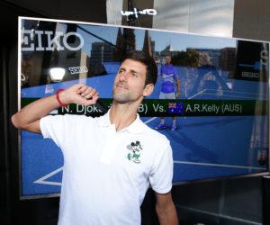 SEIKO active son partenariat avec Novak Djokovic en Réalité Virtuelle en marge de l'Open d'Australie 2019