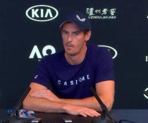Andy Murray porte la marque Castore à l'Open d'Australie 2019