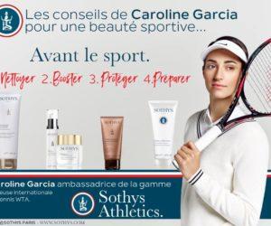 Sponsoring – Caroline Garcia ambassadrice de Sothys jusqu'en 2020
