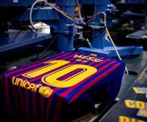 Un flocage en mandarin pour les joueurs du FC Barcelone contre le Real Madrid (Nouvel An Chinois)