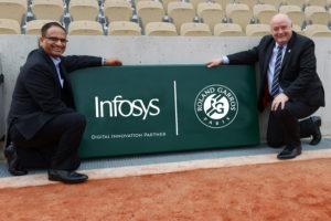 Infosys nouveau partenaire «innovation digitale» de Roland-Garros jusqu'en 2021