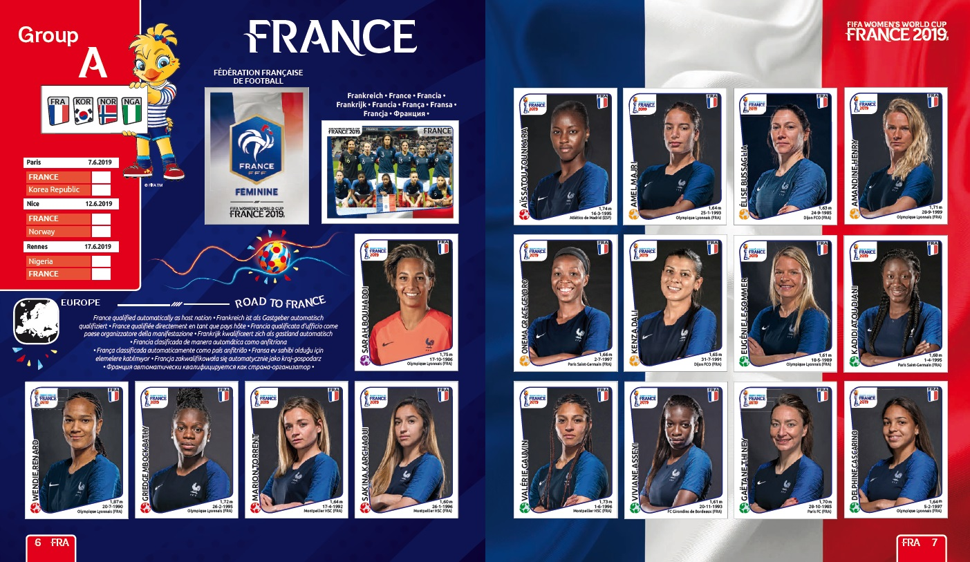 Calendrier Fifa Coupe Du Monde 2020.Panini Presente Son Album Dedie A La Coupe Du Monde Feminine