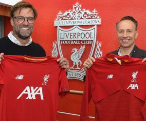 AXA renforce son partenariat avec Liverpool FC et devient Partenaire Principal et sponsor des tenues d'entraînements