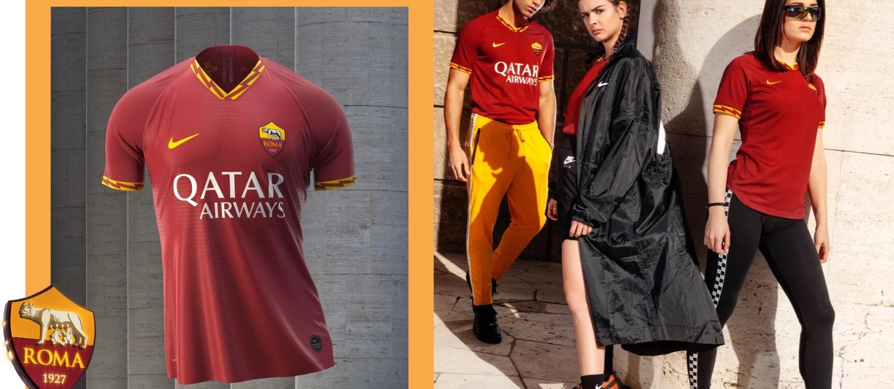 Nike dévoile les nouveaux maillots de l'AS Roma, Inter Milan