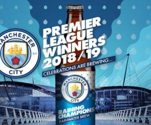 Premier League – Une bière à l'eau de pluie de l'Etihad Stadium pour célébrer le titre de Champions de Manchester City