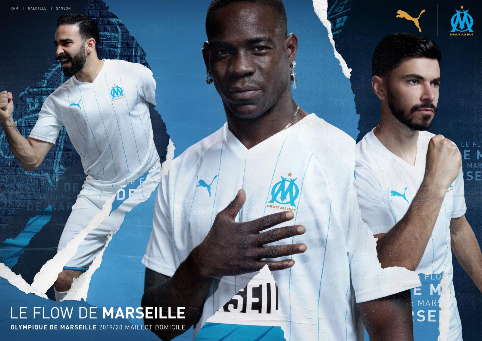 L'Olympique de Marseille dévoile son nouveau maillot