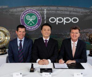 La marque chinoise de smartphones Oppo nouveau partenaire de Wimbledon