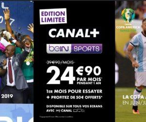 Bon Plan : Canal+ et beIN SPORTS à 24,90€ par mois pendant 1 an au lieu de 39,90€ (édition limitée juillet 2019)
