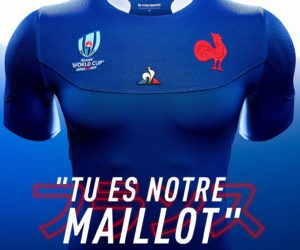 le coq sportif dévoile le nouveau maillot du XV de France pour la Coupe du Monde de Rugby 2019