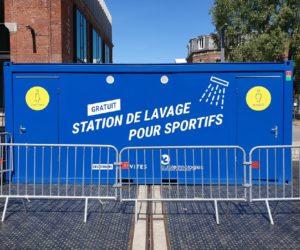 Decathlon lance une station de lavage mobile (douches) pour favoriser la pratique sportive