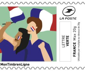 La Poste lance des timbres dédiés au foot féminin à imprimer chez soi