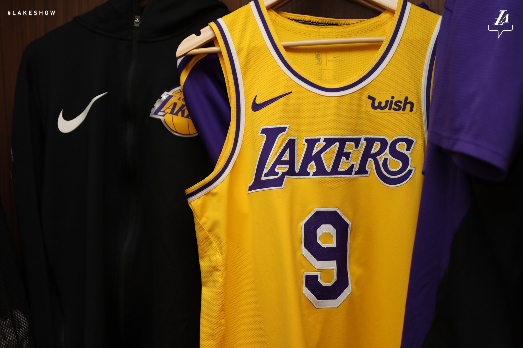 NBA Wish sponsor maillot des Los Angeles Lakers