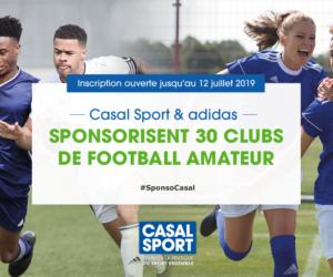 Casal Sport et adidas lancent un concours pour équiper 30 clubs de football amateur