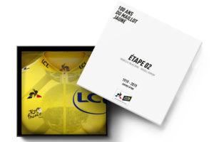 1 999€ – Le prix du coffret collector des 20 Maillots Jaunes inédits le coq sportif du Tour de France 2019