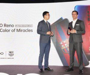 Oppo prolonge avec le FC Barcelone jusqu'en 2022 et dévoile un smartphone Reno aux couleurs du club