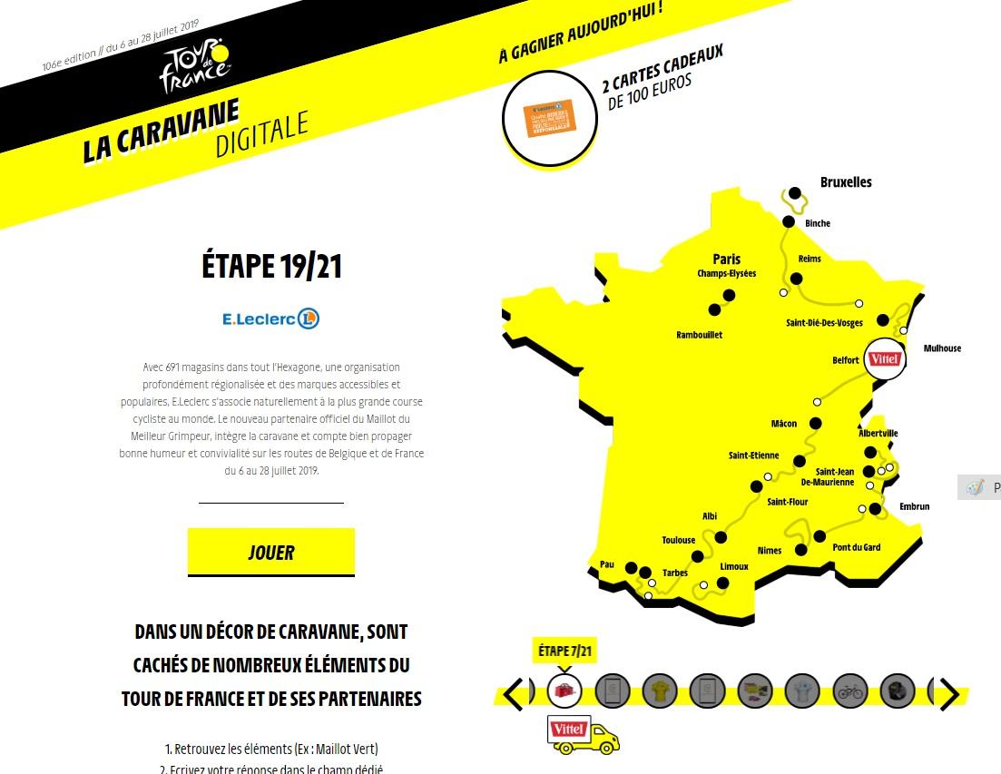 La Carte Du Tour De France Aujourdhui