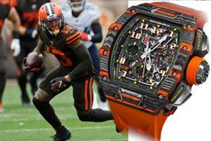 NFL – Odell Beckham Jr offre une publicité incroyable à Richard Mille en portant l'une de ses montres en match