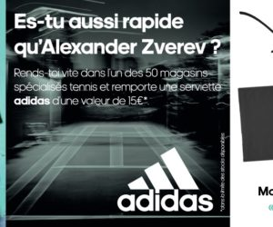 Bon Plan : adidas vous offre une serviette grâce au mot de passe «Here To Create» à activer en magasin tennis