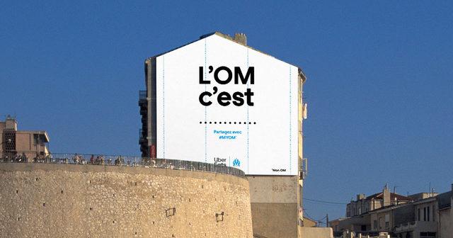 Uber Eats active son partenariat avec l'OM en s'offrant la Corniche Kennedy de Marseille («Mur Zidane»)