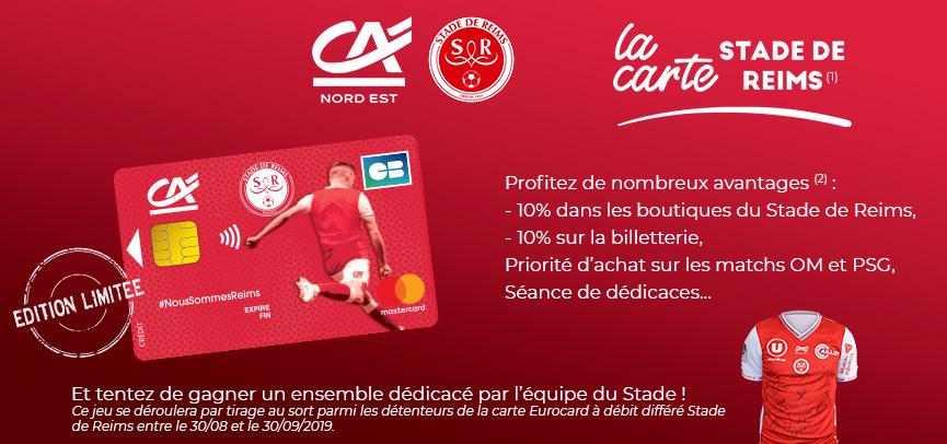 Activation Le Credit Agricole Lance Une Carte Bancaire Aux Couleurs Du Stade De Reims Sportbuzzbusiness Fr