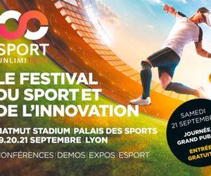 Rendez-vous à Lyon pour Sport Unlimitech, le festival du sport et de l'innovation (19, 20 et 21 septembre)