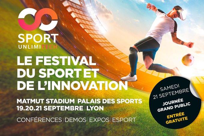 Rendez-vous à Lyon pour Sport Unlimitech, le festival du sport et de l'innovation (19, 20 et 21 septembre) - SPORTBUZZBUSINESS